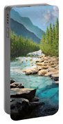 Where The Trout Run Portable Battery Charger