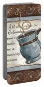 Whimsical Coffee 1 Portable Battery Charger by Debbie DeWitt