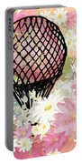 Whimsical Musing High In The Air Pink Portable Battery Charger