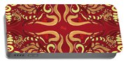 Whimsical Organic Pattern In Yellow And Red I Portable Battery Charger