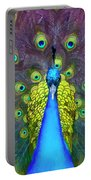 Whimsical Peacock Portable Battery Charger