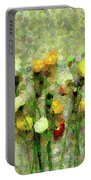 Whimsical Poppies On The Wall Portable Battery Charger