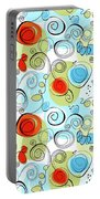Whimsical Seamless Pattern Portable Battery Charger