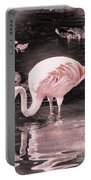 Whisper Pink Flamingo Portable Battery Charger