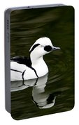 White And Black Duck Portable Battery Charger
