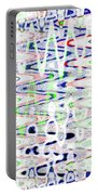 White And Blue Abstract Portable Battery Charger