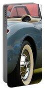 White And Light Blue Corvette Portable Battery Charger