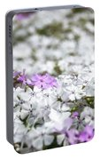White And Pink Flowers At Botanic Garden In Blue Mountains Portable Battery Charger