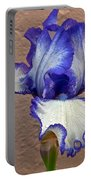 White And Purple Bearded Iris Portable Battery Charger