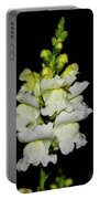 White And Yellow Snapdragon Portable Battery Charger
