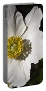 White Anemone Portable Battery Charger