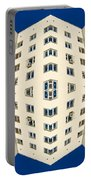 White Apartment Block Abstract And Blue Sky Portable Battery Charger