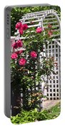 White Arbor In A Garden Portable Battery Charger