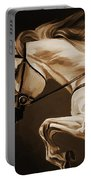 White Beautiful Horse  Portable Battery Charger