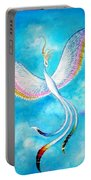 White Bird From Kingdom Of Immortals Portable Battery Charger