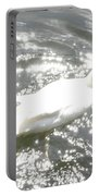 White Bird On Sparkly Water Portable Battery Charger