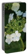 White Bridal Wreath Flowers Portable Battery Charger