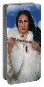 White Buffalo Calf Woman Portable Battery Charger