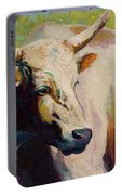 White Bull Portrait Portable Battery Charger