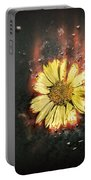 White Butterfly And Yellow Flower Portable Battery Charger