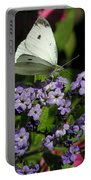 White Butterfly Portable Battery Charger
