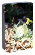 White Butterfly On Goldenseal Portable Battery Charger