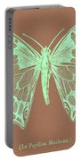 White Butterfly Swallow Tail Le Papillon Machaon Portable Battery Charger