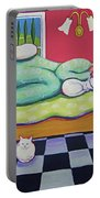White Cats - Cat Napping Portable Battery Charger