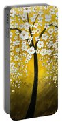 White Cherry Blossom Tree Portable Battery Charger