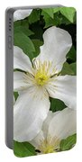 White Clematis 0808 Portable Battery Charger