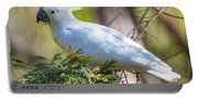White Cockatoo Portable Battery Charger