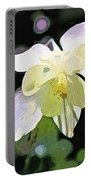 White Columbine 2 Portable Battery Charger