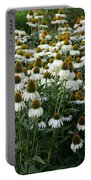 White Coneflower Field Portable Battery Charger
