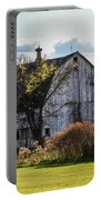 White Country Barn Portable Battery Charger
