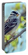 White-crowned Sparrow 0033-111017-1cr Portable Battery Charger