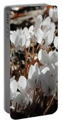 White Cyclamen Portable Battery Charger