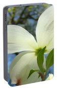 White Dogwood Flower Art Prints Blue Sky Baslee Troutman Portable Battery Charger