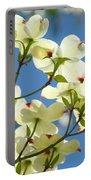 White Dogwood Flowers 1 Blue Sky Landscape Artwork Dogwood Tree Art Prints Canvas Framed Portable Battery Charger