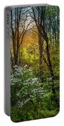 White Dogwoods Portable Battery Charger