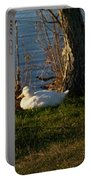White Duck Resting Portable Battery Charger