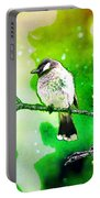 White-eared Bulbul - Watercolor Portable Battery Charger