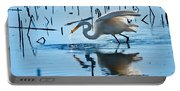 White Egret At Horicon Marsh Wisconsin Portable Battery Charger