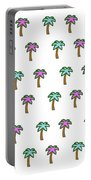 White Epic Palm Tree Print Portable Battery Charger