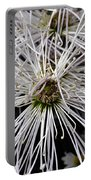 White Flora Portable Battery Charger