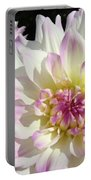 White Floral Art Bright Dahlia Flowers Baslee Troutman Portable Battery Charger