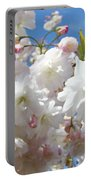 White Floral Tree Flower Blossoms Art Baslee Troutman Portable Battery Charger