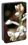 White Flower Buds Portable Battery Charger