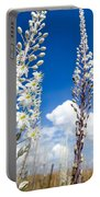 White Flowering Sea Squill On A Blue Sky Portable Battery Charger