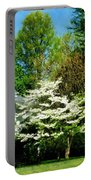 White Flowering Tree Portable Battery Charger