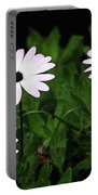 White Flowers In The Garden Portable Battery Charger